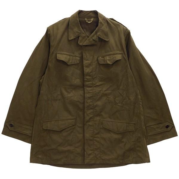 【中古】MILITARY フランス軍 M-47 フィールドジャケット 前期 50s オリーブ (ややブラウン寄り) サイズ:46 【180720】(ミリタリー)