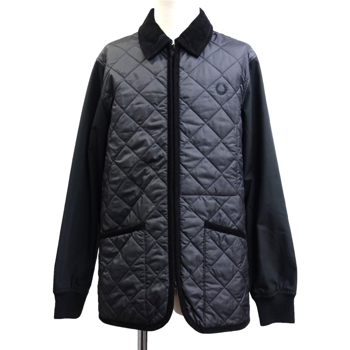 【中古】LAVENHAM×Fred Perry 袖切替キルティングジャケット ブラック サイズ:M 【180720】(ラヴェンハム×フレッドペリー)