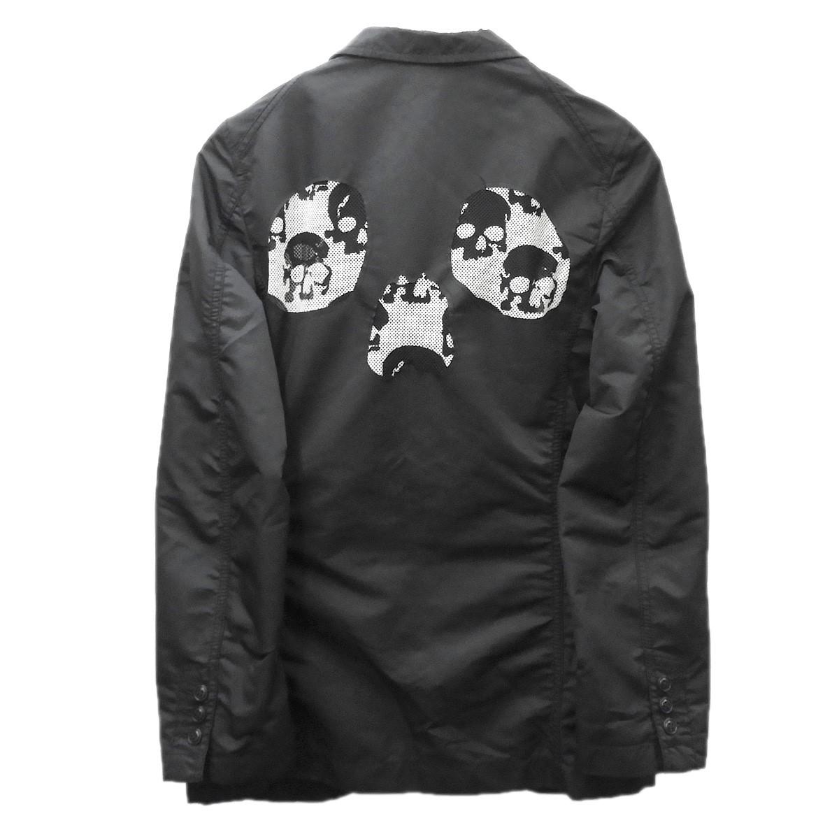 【中古】COMME des GARCONS HOMME PLUS 2011SS the Skull of Life期 スカルメッシュテーラードジャケット ブラック サイズ:XS 【190720】(コムデギャルソンオムプリュス)
