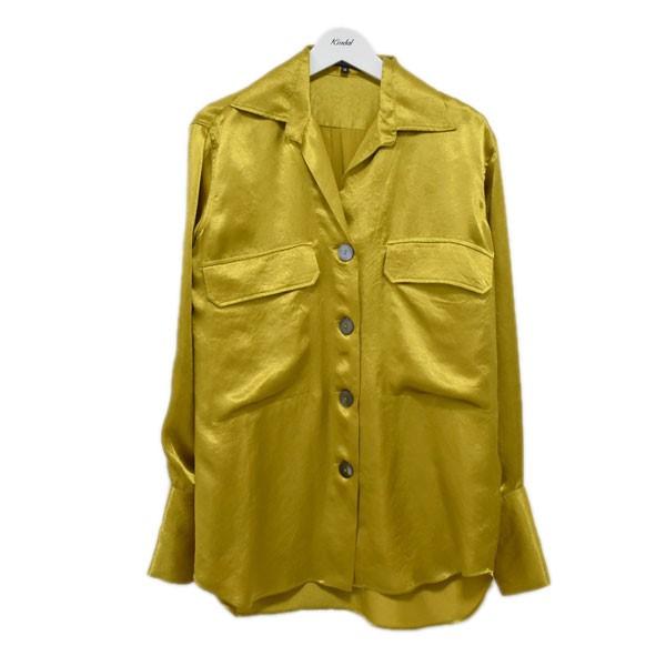 【中古】ANN DEMEULEMEESTER ルーズフィットサテンシャツ イエロー サイズ:36 【190720】(アンドゥムルメステール)