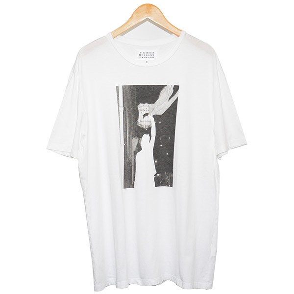 【中古】Martin Margiela 10 2017SS フォトプリントTシャツ ホワイト サイズ:50 【180720】(マルタンマルジェラ 10)