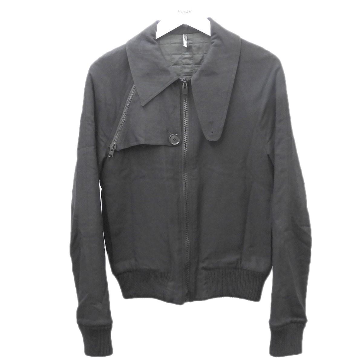 【中古】Dior Homme 2007AW ジップアップジャケット ブラック サイズ:44 【200720】(ディオールオム)