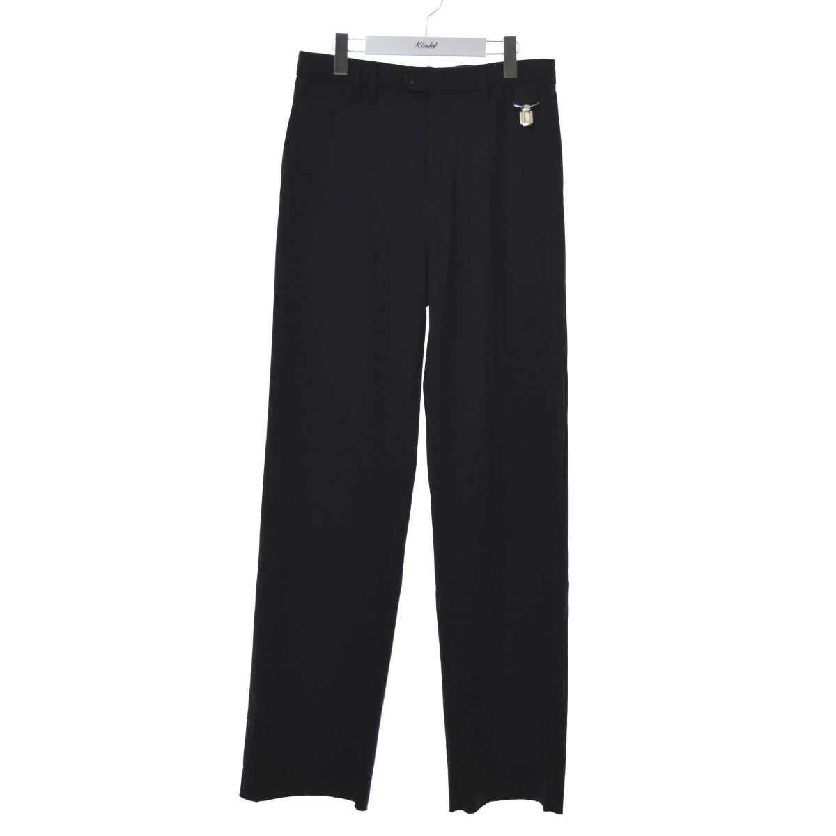 【中古】RAF SIMONS 20SS Straight fit pants スラックス ブラック サイズ:44 【200720】(ラフシモンズ)
