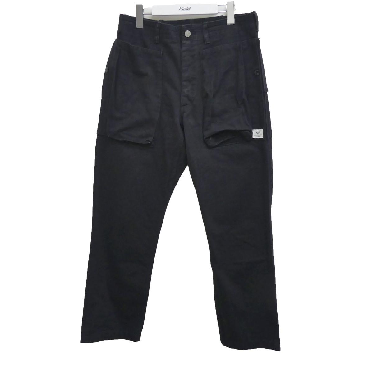 【中古】SASSAFRAS 18SS DIGS CREW PANTS ディグスクルーパンツ ブラック サイズ:S 【200720】(ササフラス)