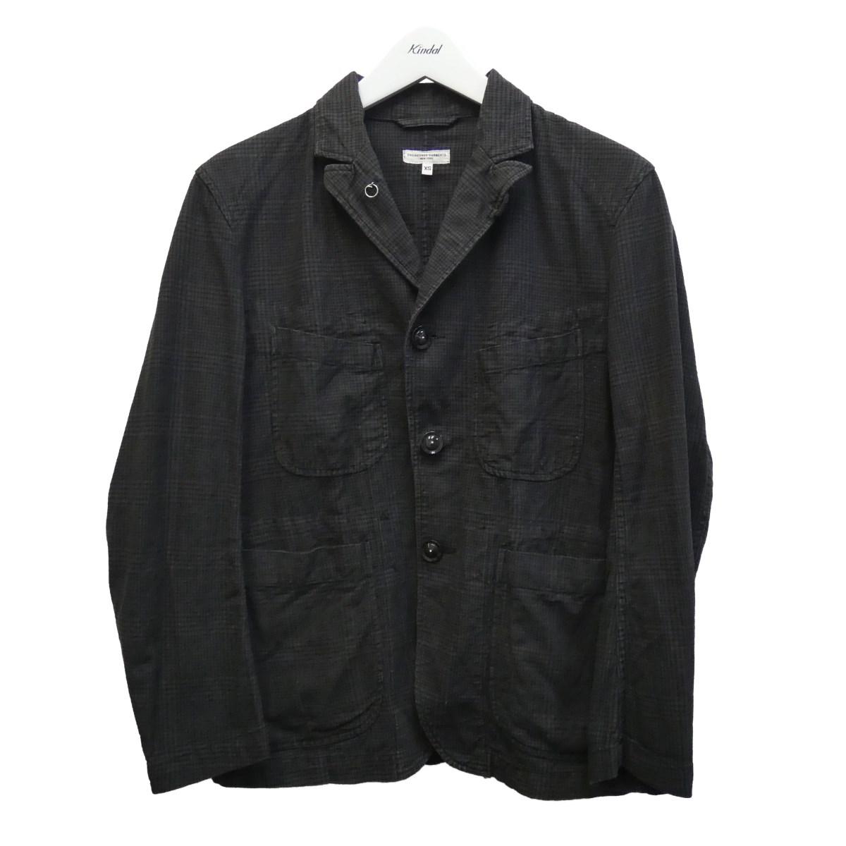【中古】Engineered Garments チェックテーラードジャケット ブラウン サイズ:XS 【190720】(エンジニアドガーメンツ)