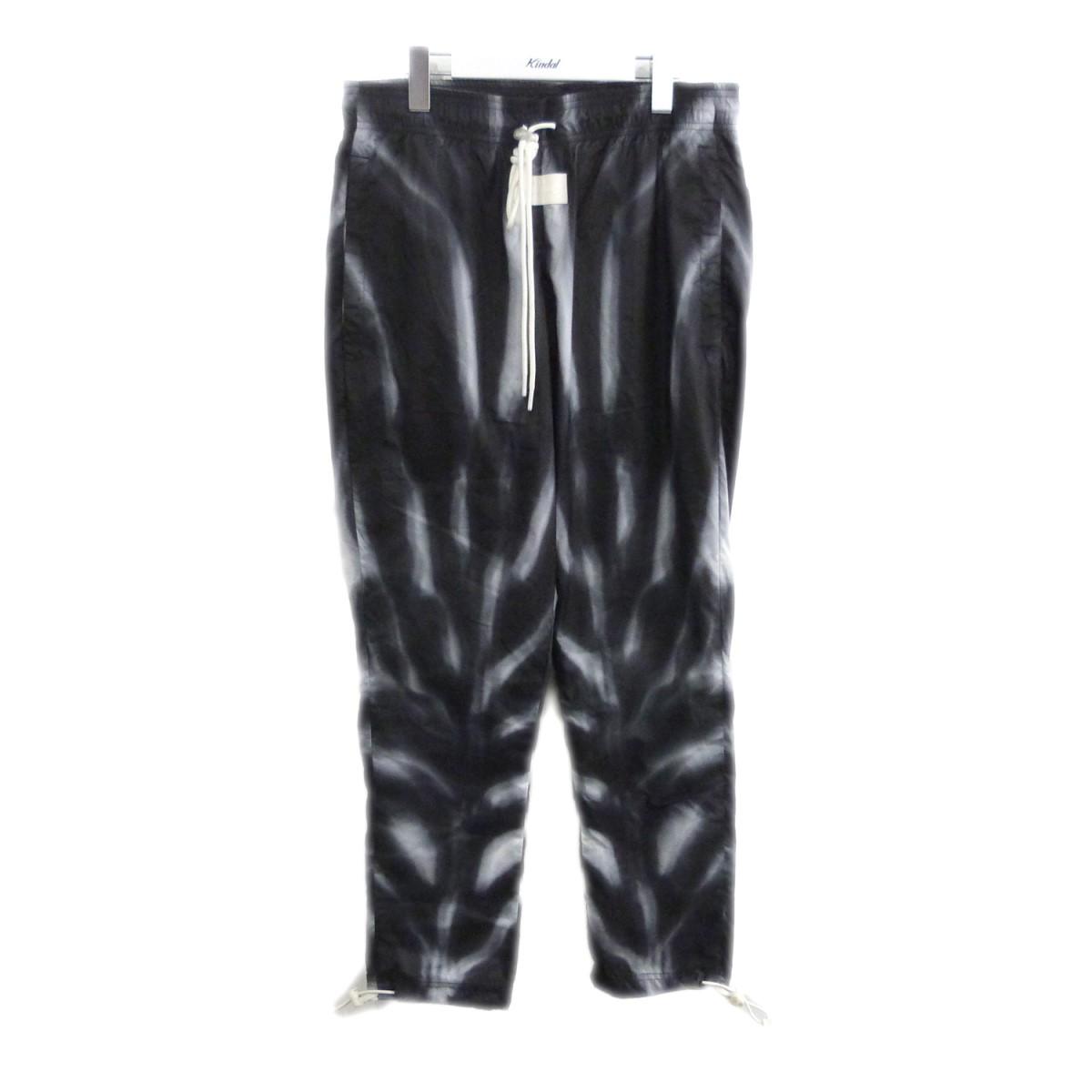 【中古】FEAR OF GOD×NIKE 19SS「Allover Print Pants」オールオーバープリントパンツ ブラック サイズ:S 【200720】(フィアオブゴッド ナイキ)