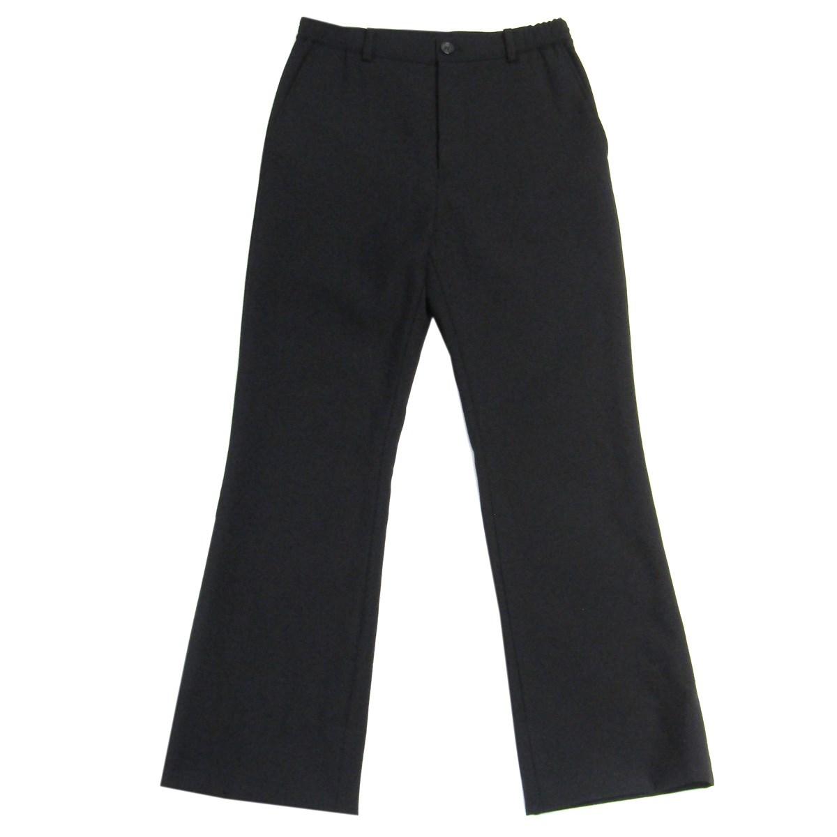 【中古】CHRISTIAN DADA 2019AW Bootcut Wool Trouseres ブーツカットフレアスラックスパンツ ブラック サイズ:44 【200720】(クリスチャンダダ)