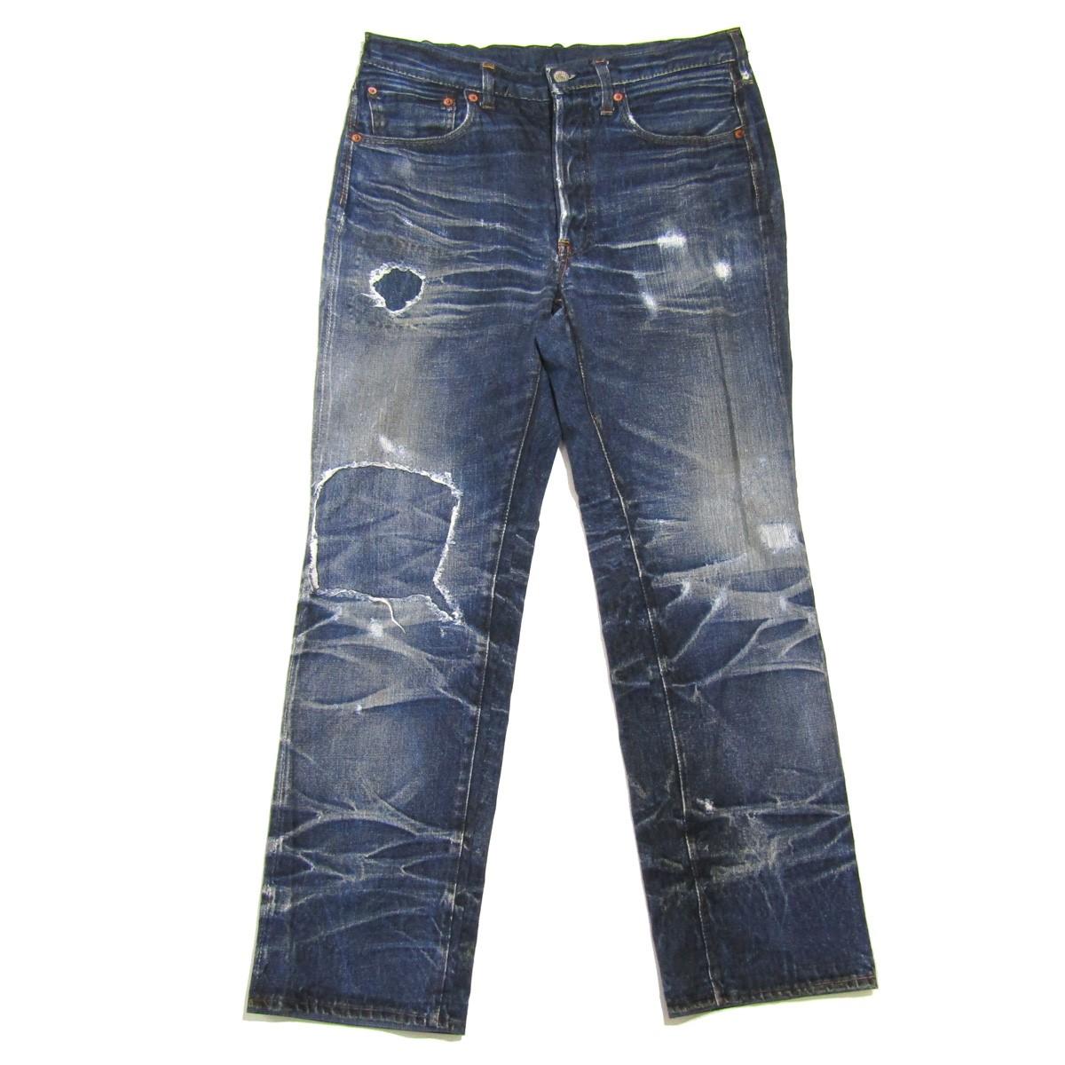 【中古】TOLQ Tronpe L'oeil Printed Stretch Trousers インディゴ サイズ:40 【200720】(トルク)