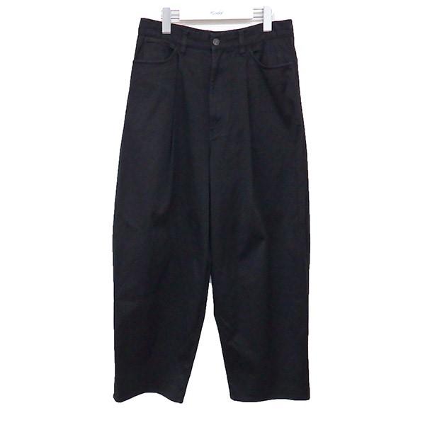 【中古】LAD MUSICIAN 18AW 1TUCK WIDE PANTS 1タックワイドパンツ ブラック サイズ:44 【200720】(ラッドミュージシャン)