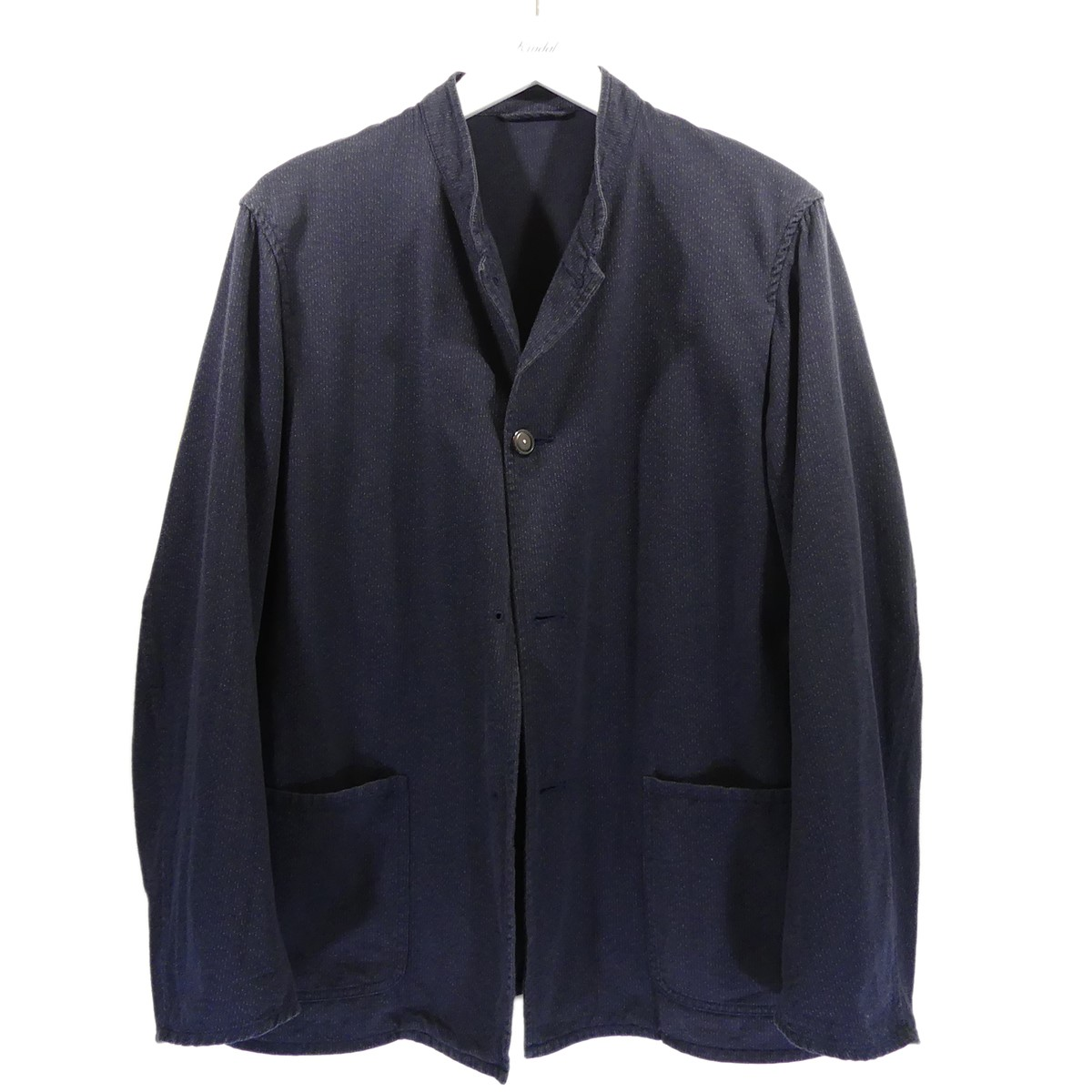 【中古】COMOLI 2016SS スタンドカラージャケット ネイビー サイズ:3 【210720】(コモリ)