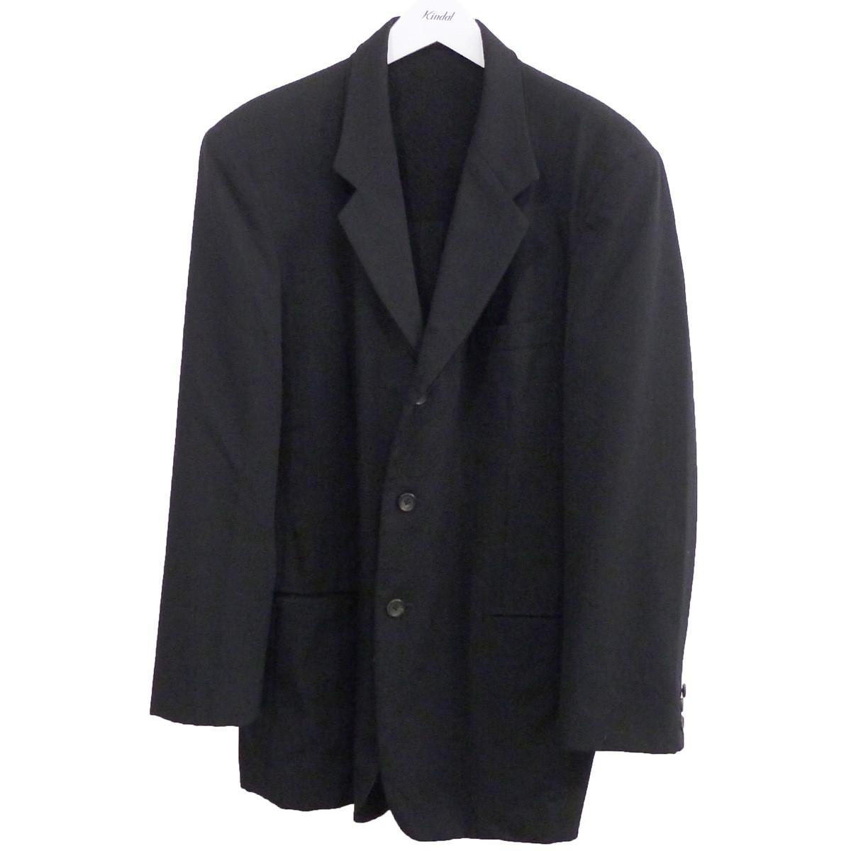 【中古】YOHJI YAMAMOTO pour homme ノッチドラペル3Bジャケット ブラック サイズ:3 【230720】(ヨウジヤマモトプールオム)