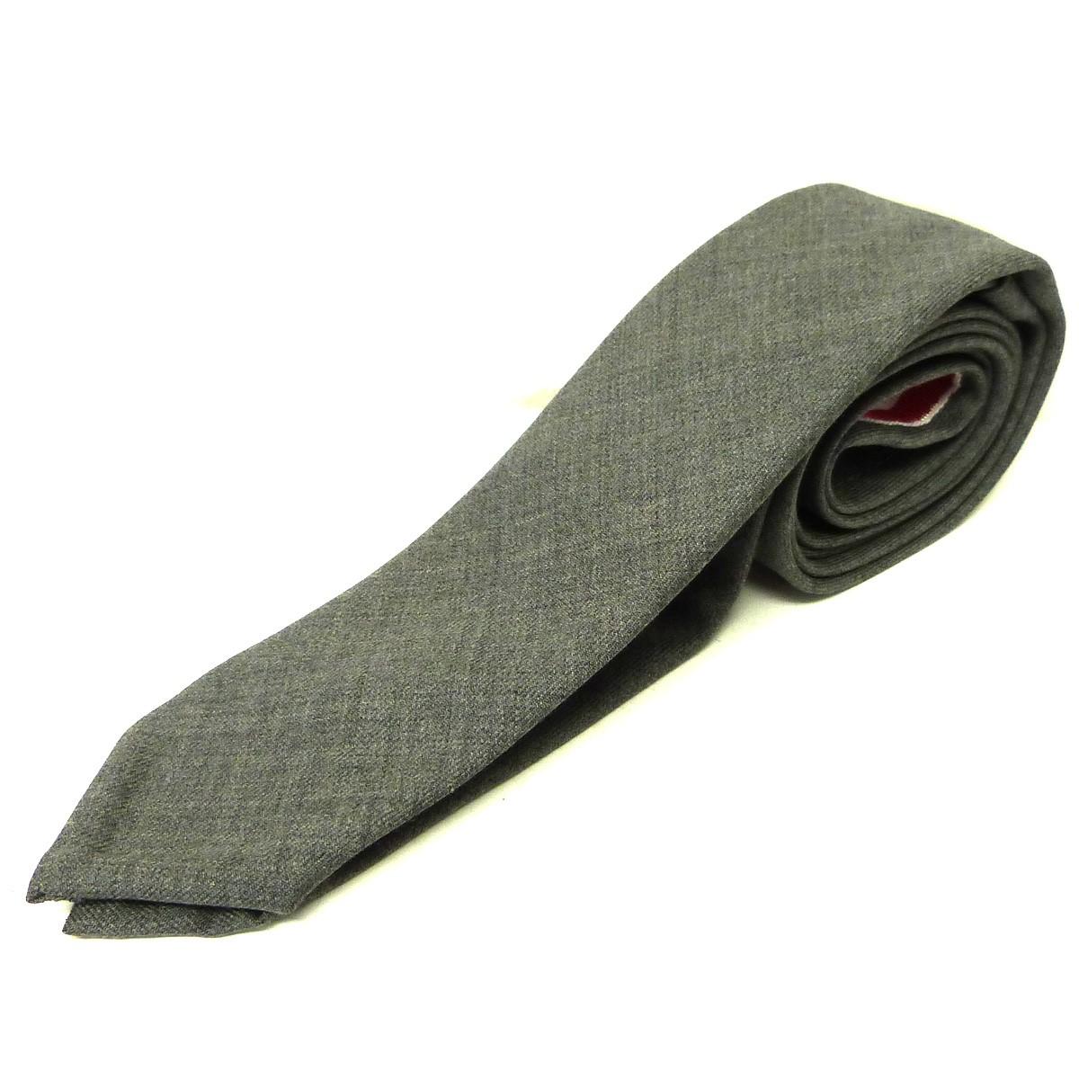 【中古】THOM BROWNE グログランテープネクタイ ダークグレー サイズ:- 【230720】(トム・ブラウン)