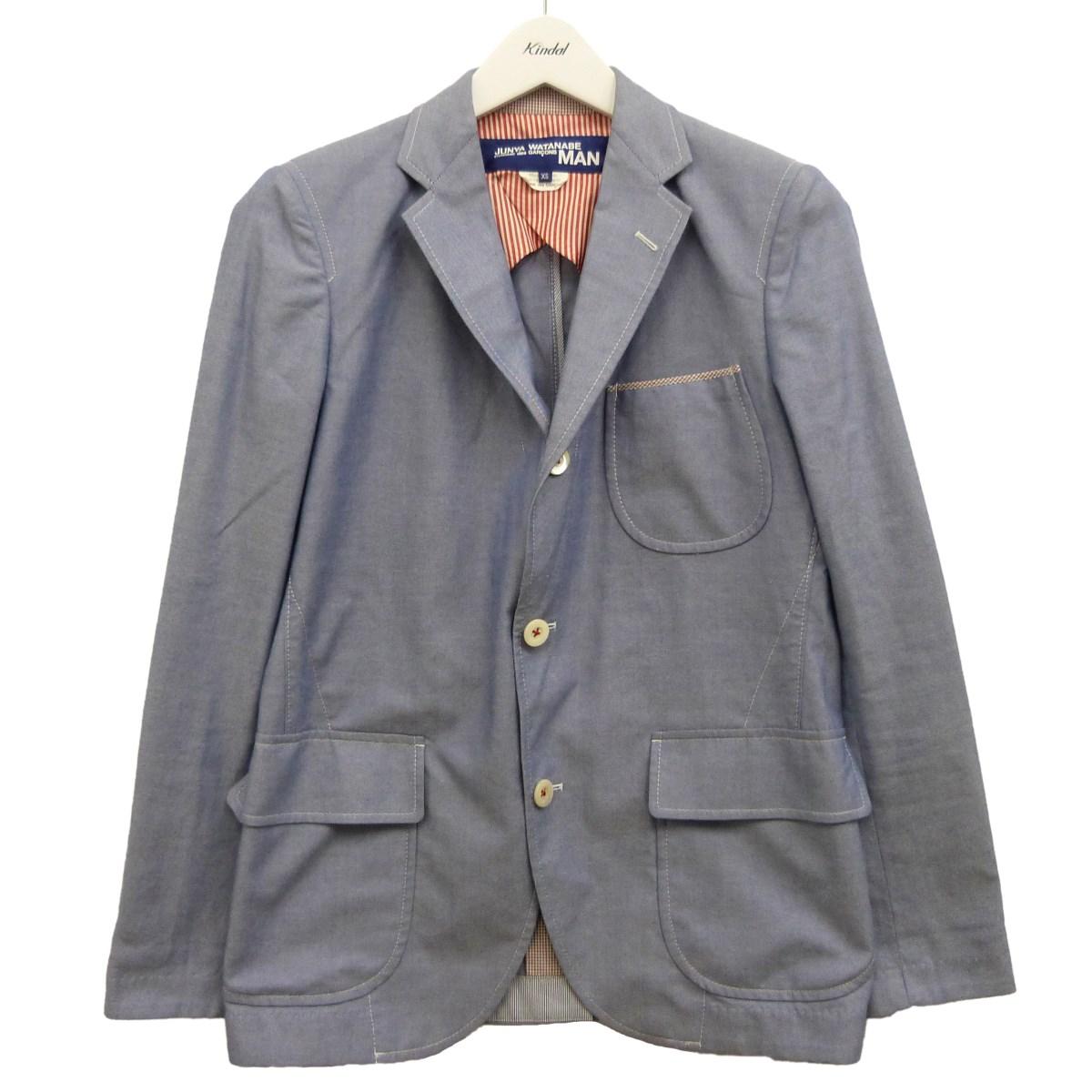 【中古】JUNYA WATANABE CdG MAN 13SSジャケット ブルー サイズ:XS 【230720】(ジュンヤワタナベコムデギャルソンマン)