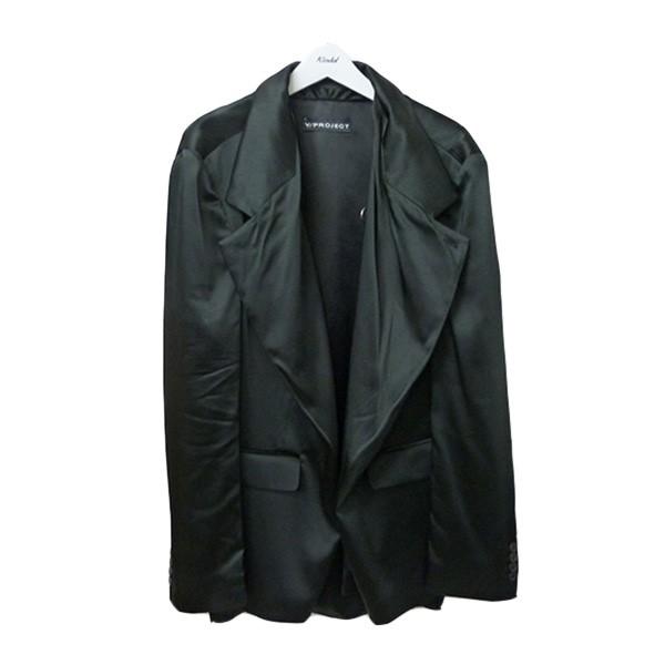 【中古】Y/PROJECT 変型ロングジャケット タキシード風テーラードジャケット ブラック サイズ:S 【240720】(ワイプロジェクト)