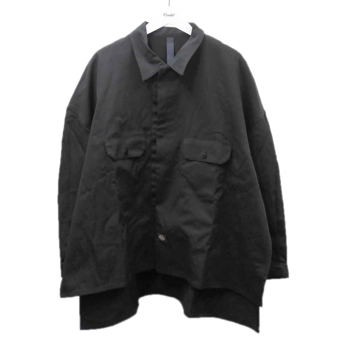 【中古】SHINYA KOZUKA 2020SS「WORK SHIRT-ISHYJACKET WITH DICKIES」ワークジャケット ブラック サイズ:M 【260720】(シンヤコヅカ)