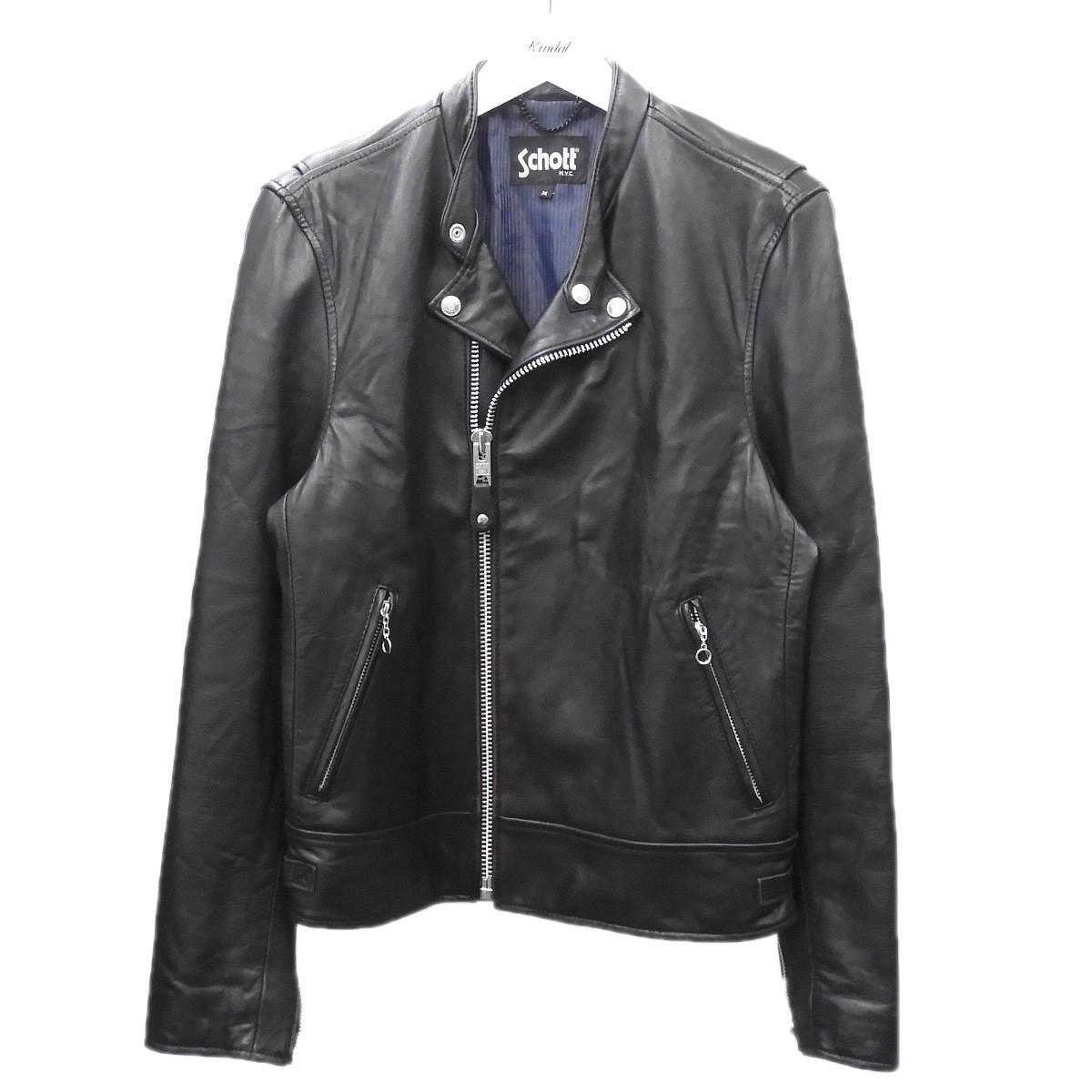【中古】SCHOTT×EDIFICE ライダースジャケット ブラック サイズ:M 【260720】(ショット エディフィス)