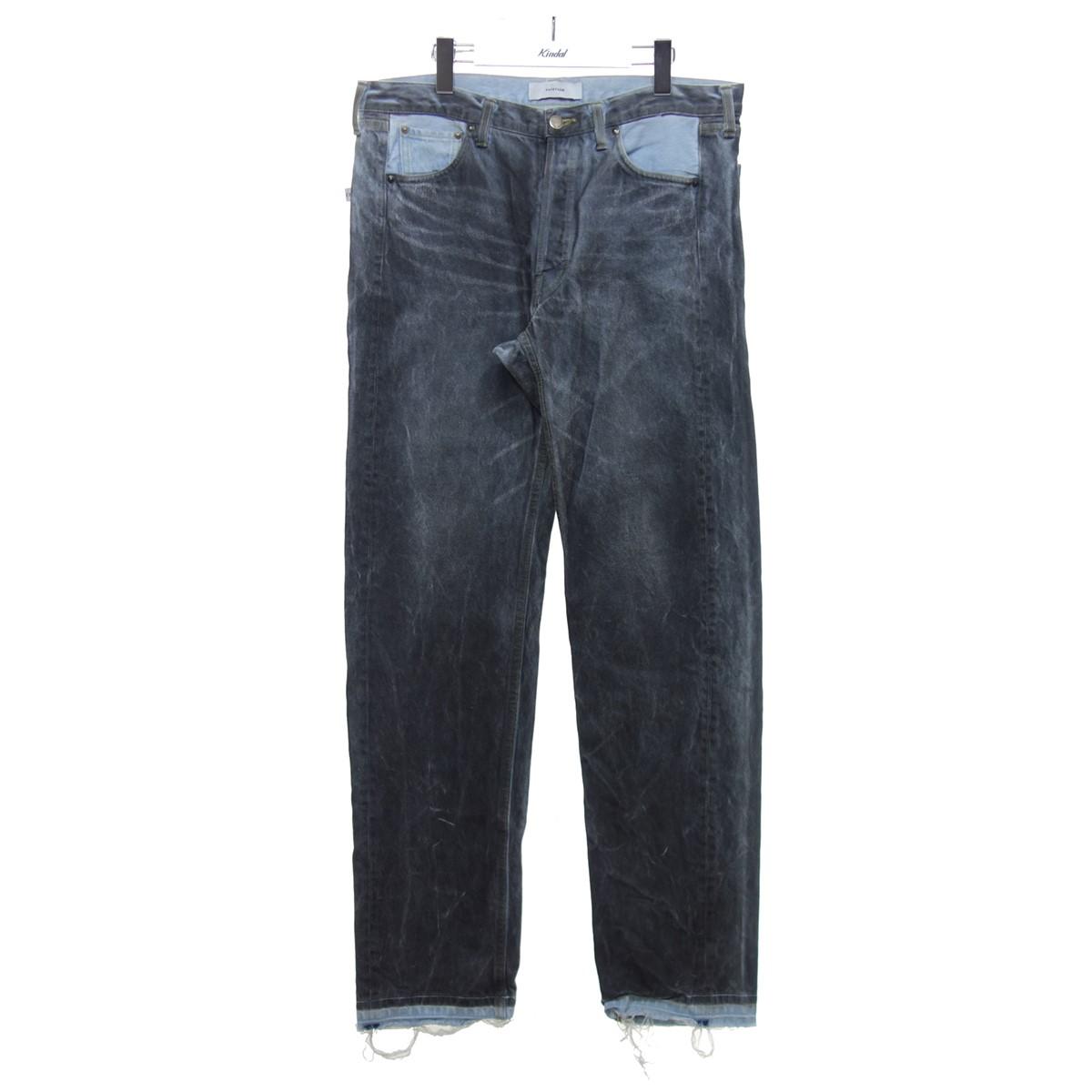 【中古】FACETASM COLOUR COATED DENIM PANTS デニムパンツ グレー×ブルー サイズ:3 【250720】(ファセッタズム)