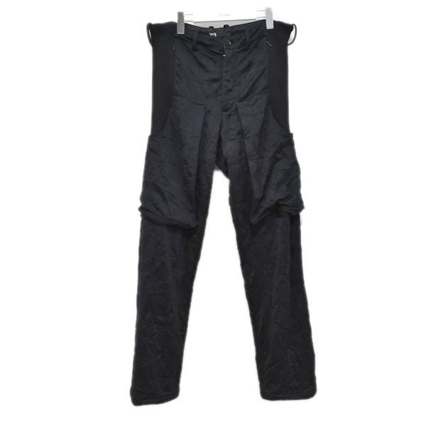 【中古】Y-3 切替 パンツ ブラック サイズ:S 【270720】(ワイスリー)