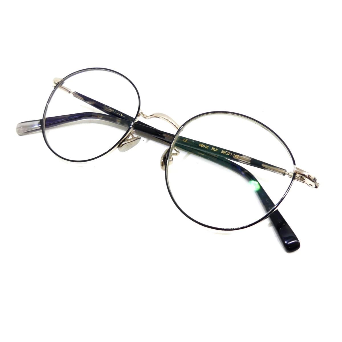 【中古】BLANC B0016 ボストン眼鏡 ブラック サイズ:50□21-145 【270720】(ブラン)