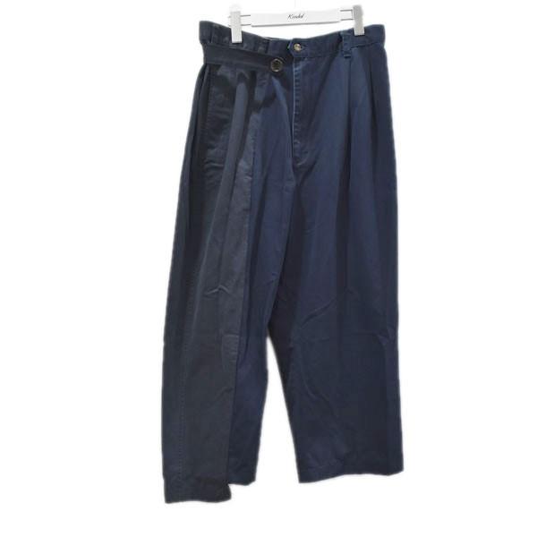 【中古】77CIRCA 20SS circa make fold adjust khaki trousers リメイクパンツ ネイビー サイズ:28 【280720】(ナナナナサーカ)