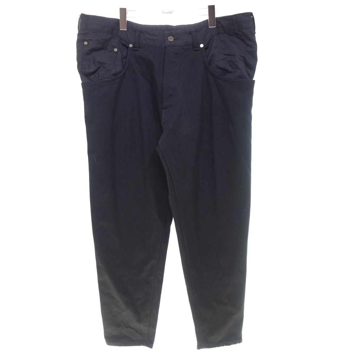 【中古】FUMITO GANRYU 【19SS】FU1-PA23 WATER RESISTANT TAPERED PANTS ブラック サイズ:2 【280720】(フミト ガンリュウ)