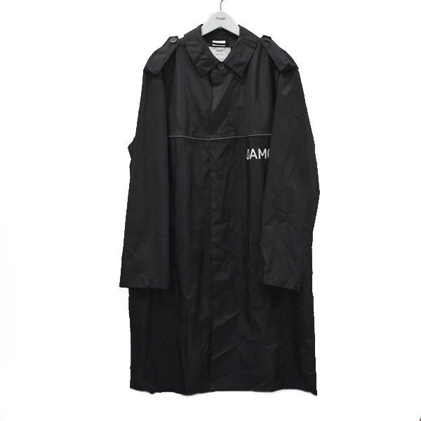 【中古】OAMC 18SS PEACEMAKER TRENCH ナイロンコート ブラック サイズ:48 【270720】(オーエーエムシー)