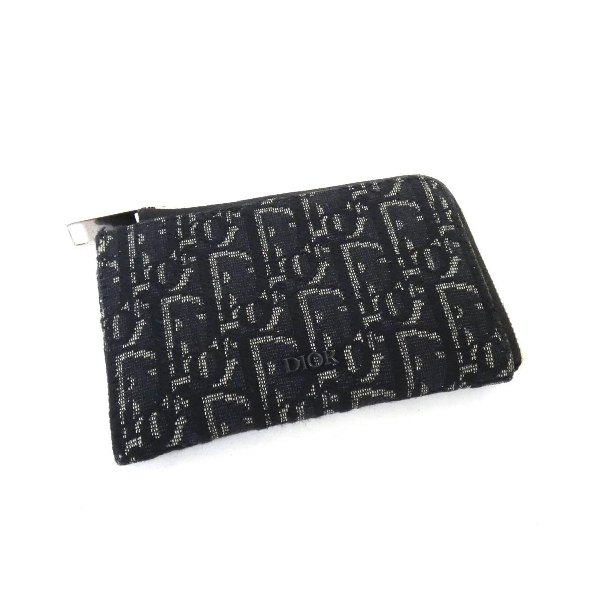【中古】Dior 「Dior 0blique」 ジャガードジップコインケース 24-B0-0169 ブラック サイズ:- 【280720】(ディオール)