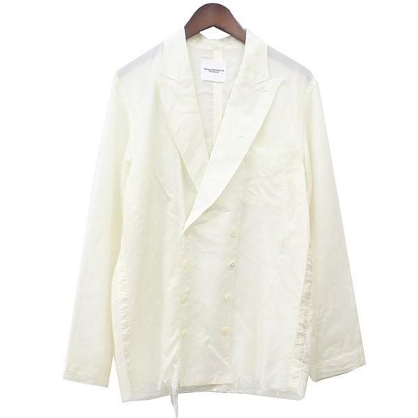 【中古】TAKAHIROMIYASHITA TheSoloIst. 17SS double breasted pajama shirt ダブルブレステッドパジャマシャツ ホワイト サイズ:44 【280720】(タカヒロミヤシタザソロイスト)