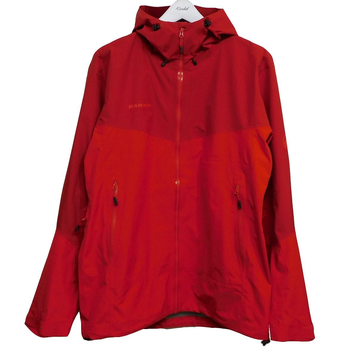 【中古】MAMMUT Convey Tour HS Hooded Jacket GORE-TEXマウンテンパーカー レッド サイズ:ASIA:XL 【280720】(マムート)