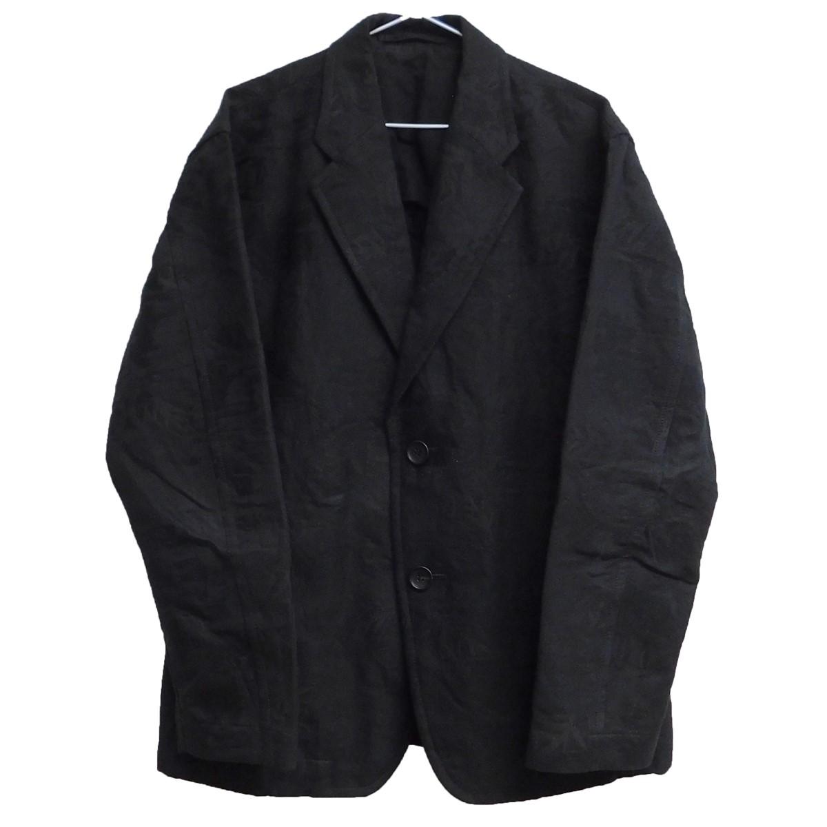 【中古】ISSEY MIYAKE MEN 2020SS ジャガード花柄ジャケット ブラック サイズ:2 【290720】(イッセイミヤケ)
