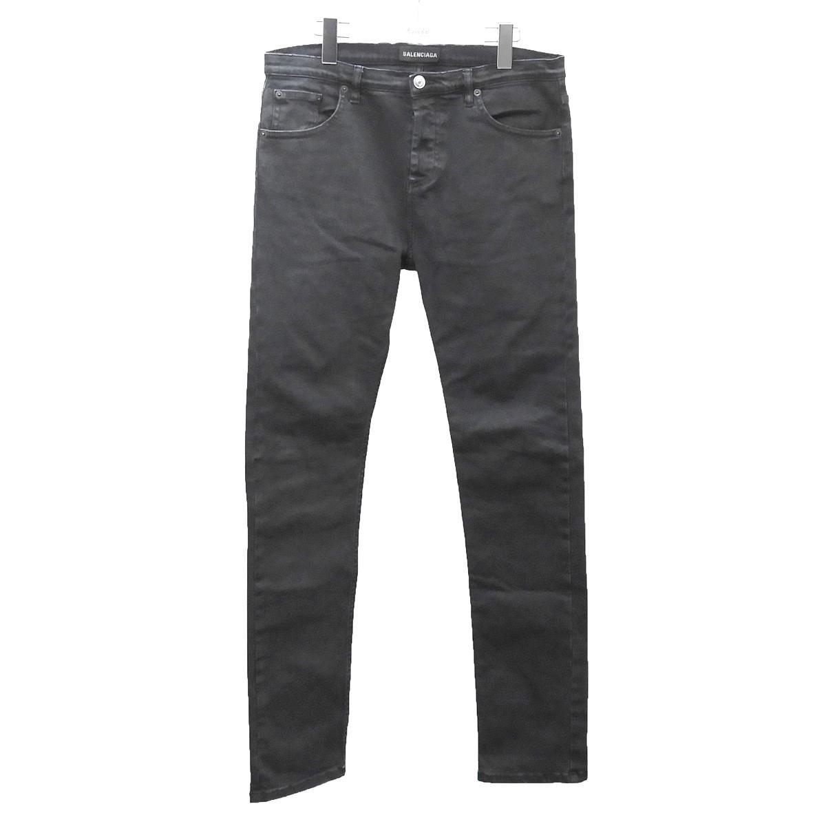 【中古】BALENCIAGA ストレッチデニムパンツ ブラック サイズ:30 【310720】(バレンシアガ)