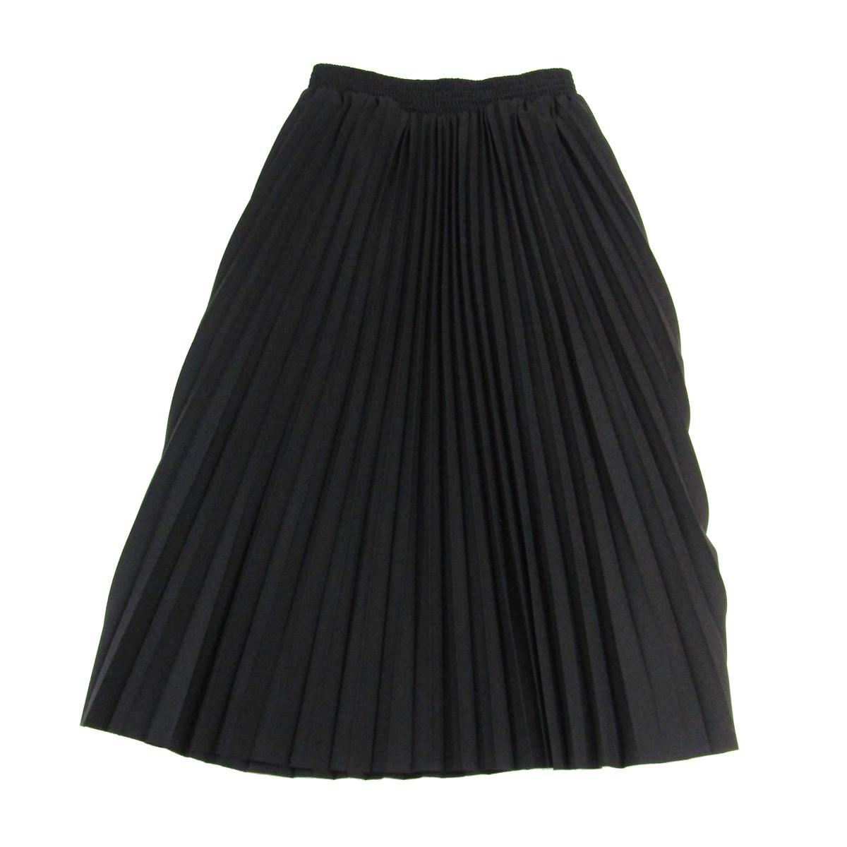 【中古】BALENCIAGA HOURGLASS PLEATED SKIRT volume on hips プリーツスカート ブラック サイズ:38 【010820】(バレンシアガ)