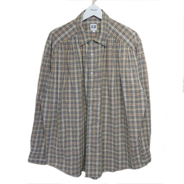 超可爱の 【】AiE 2018AW「Painter Shirt」チェックシャツ ベージュ サイズ:L 【020820】(エーアイイー), 大垣市 b631743b
