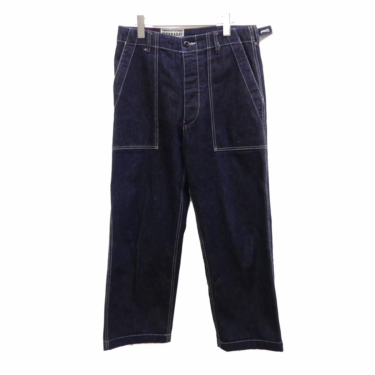 【中古】Engineered Garments Workaday Indigo Heavy Denim Fatigue Pant ファティーグパンツ インディゴ サイズ:XS 【030820】(エンジニアードガーメンツ)