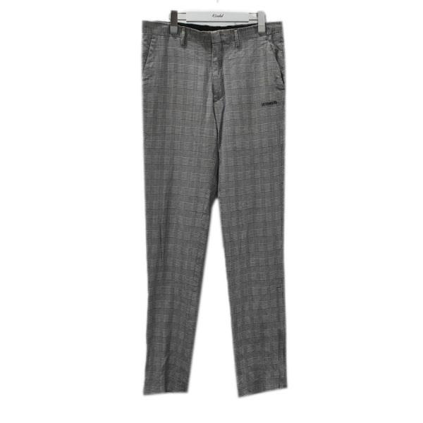 【中古】VETEMENTS 裾ジップチェック柄パンツ MAH19PA201 グレー サイズ:M 【020820】(ヴェトモン)