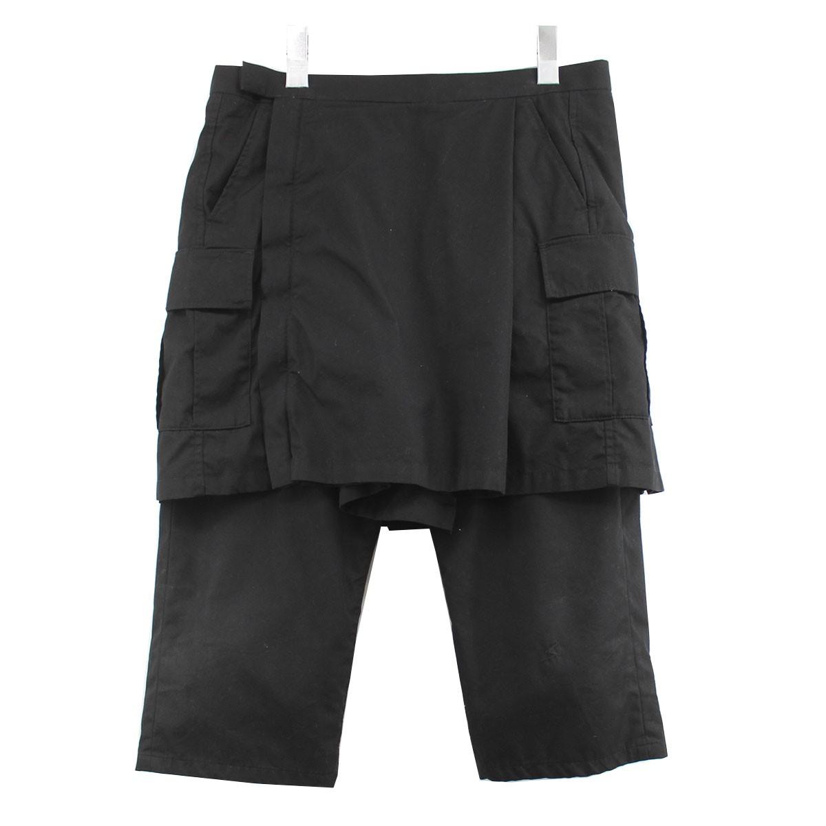 【中古】UNDERCOVER 09AW カーゴスカートレイヤードパンツ ブラック サイズ:3 【030820】(アンダーカバー)