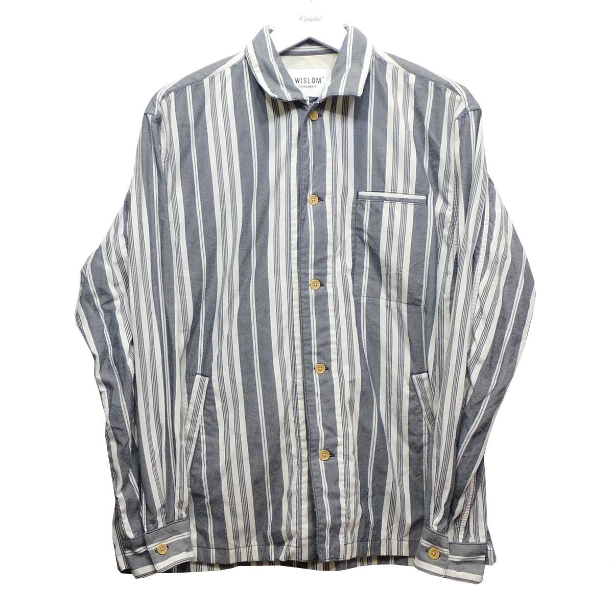 【中古】WISLOM シャツジャケット グレー×オフホワイト サイズ:05 【030820】(ウィズロム)