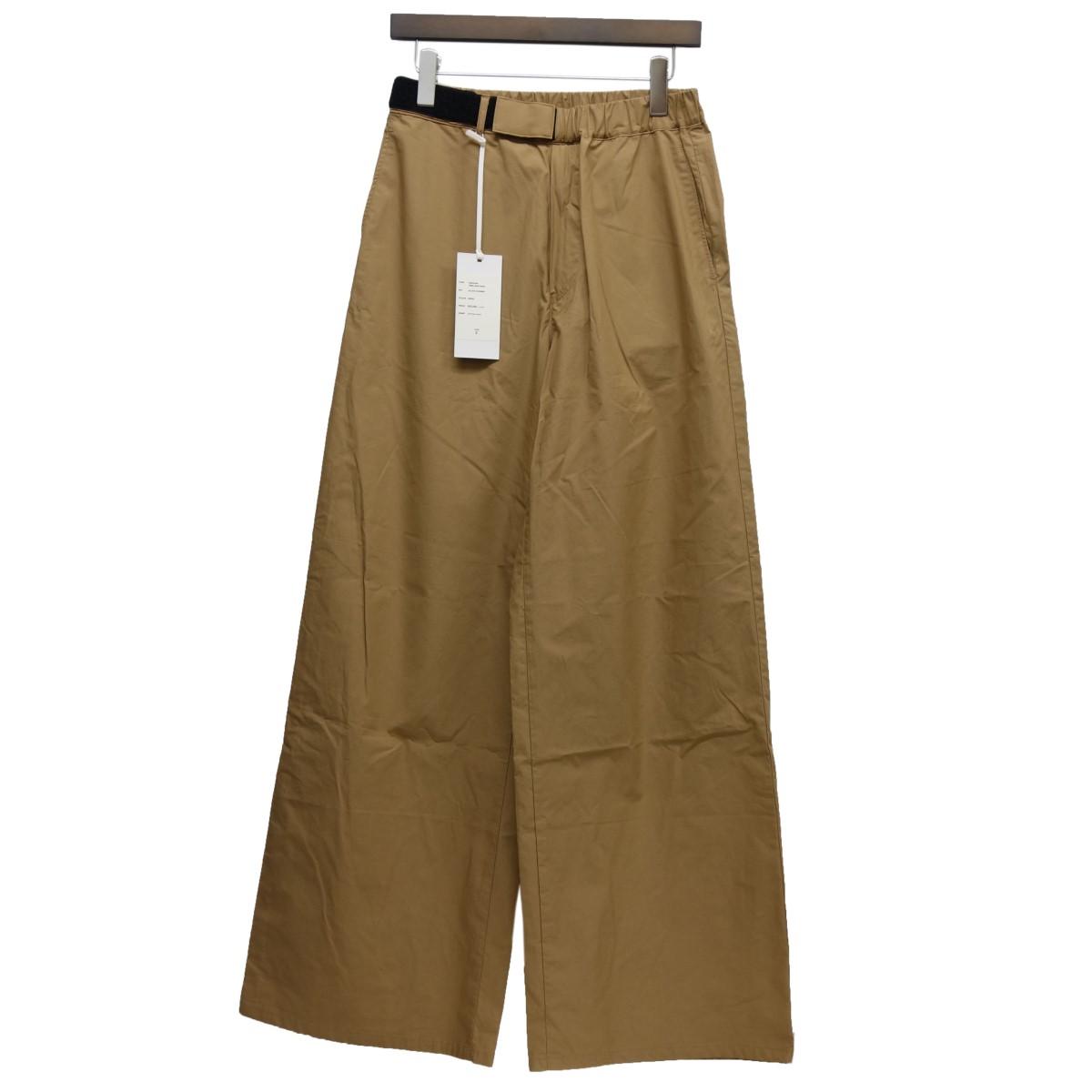 【中古】Graphpaper 19SS「Typewrier Wide Cook Pants」コックパンツ ベージュ サイズ:F 【080820】(グラフペーパー)