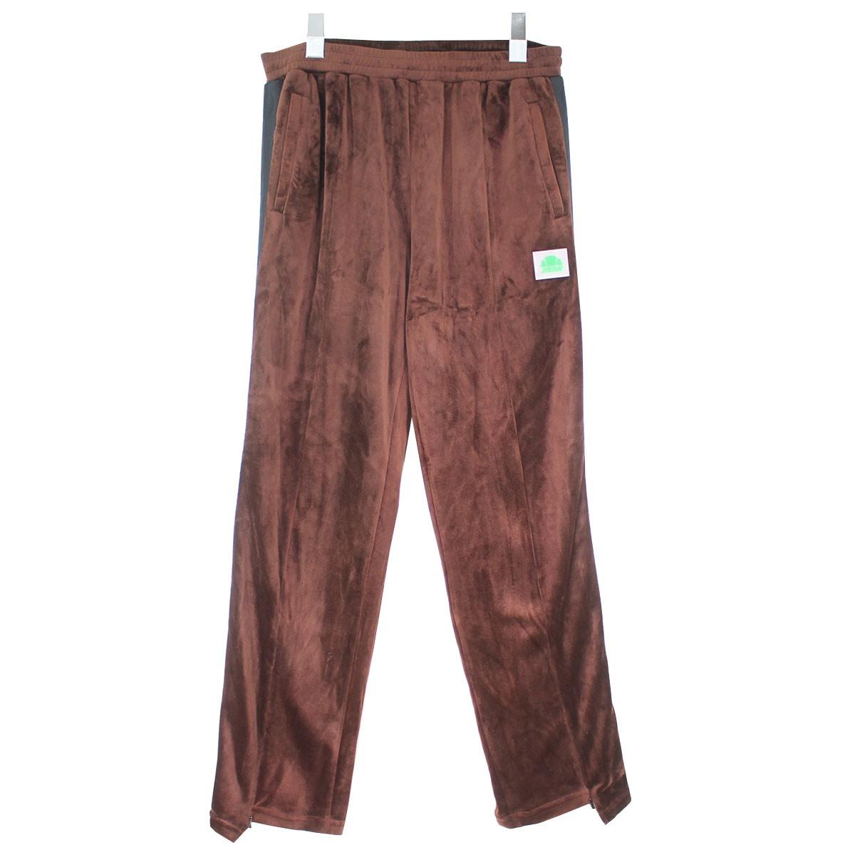 【中古】JieDa×ellesse 19AW LOGO LINE PANTS ベロアロゴラインパンツ ブラウン サイズ:2相当 【080820】(ジエダ×エレッセ)
