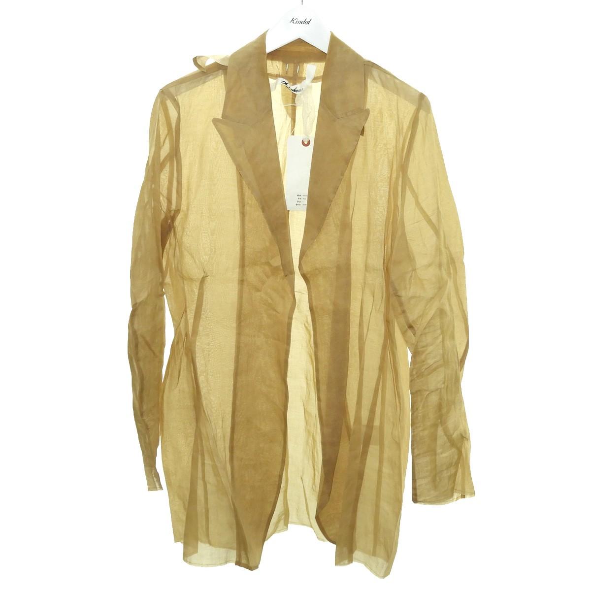 【中古】Midorikawa 2020SS 「See-through Jacket」シースルージャケット ベージュ サイズ:S 【090820】(ミドリカワ)