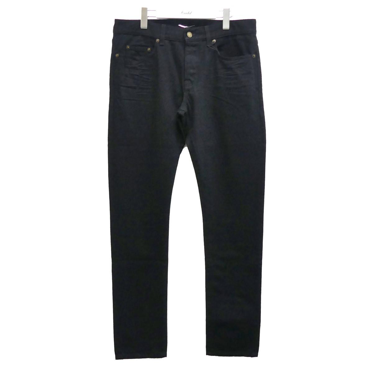 【中古】SAINT LAURENT PARIS D18 M/SL-LW ブラックデニムパンツ ブラック サイズ:32 【100820】(サンローランパリ)