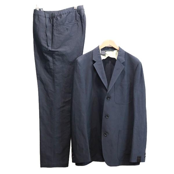【中古】N.HOOLYWOOD 3Bセットアップスーツ 【SAMPLE品】 ネイビー サイズ:上下40 【110820】(エヌハリウッド)