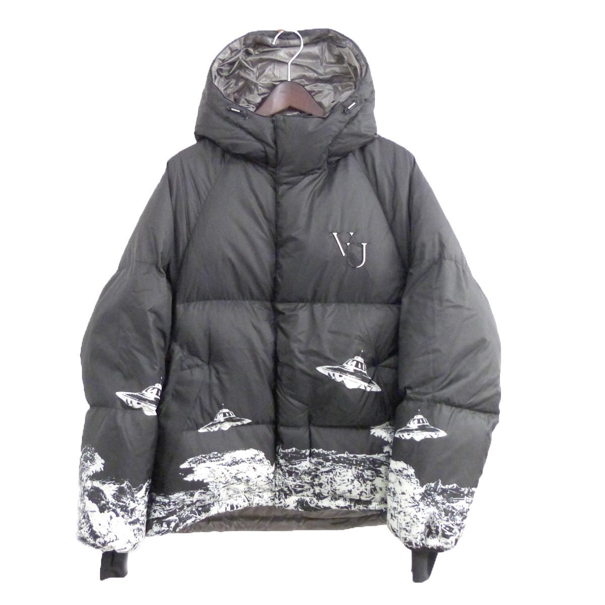 【中古】UNDER COVER×VALENTINO 19AW ダウンジャケット ブラック サイズ:2 【120820】(アンダーカバー ヴァレンチノ)