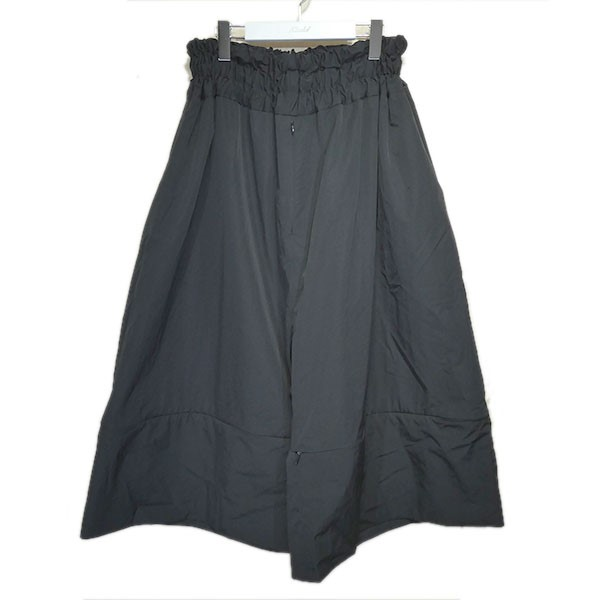 【中古】FUMITO GANRYU 2019SS「GATHERED CULOTTE PANTS」キュロットパンツ ブラック サイズ:2 【120820】(フミト ガンリュウ)