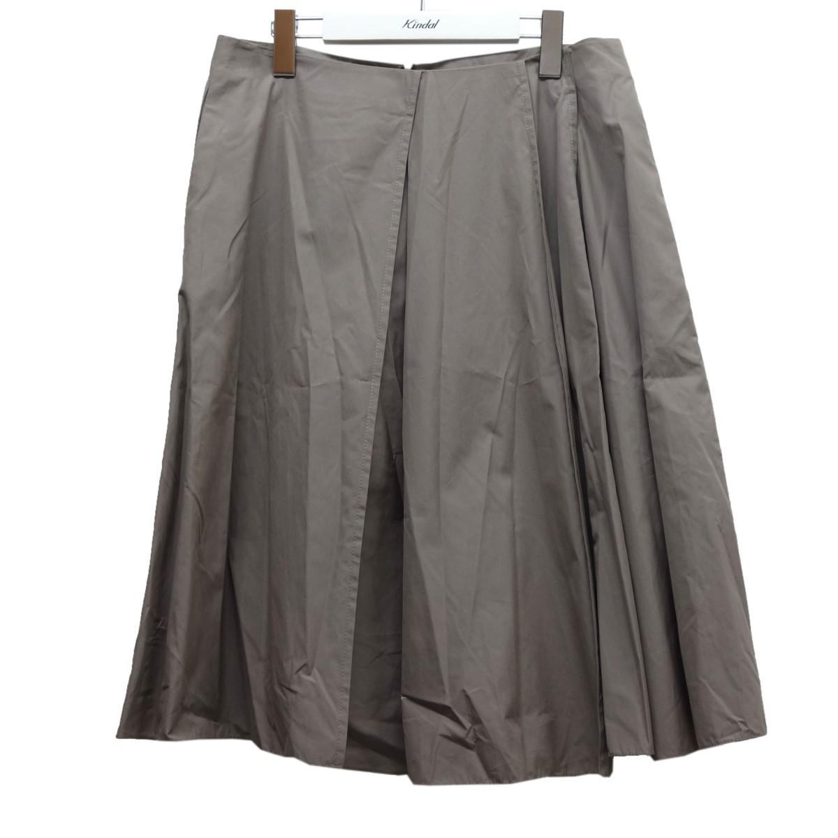 【中古】JIL SANDER 17SS タックフレアスカート グレー サイズ:38 【130820】(ジルサンダー)