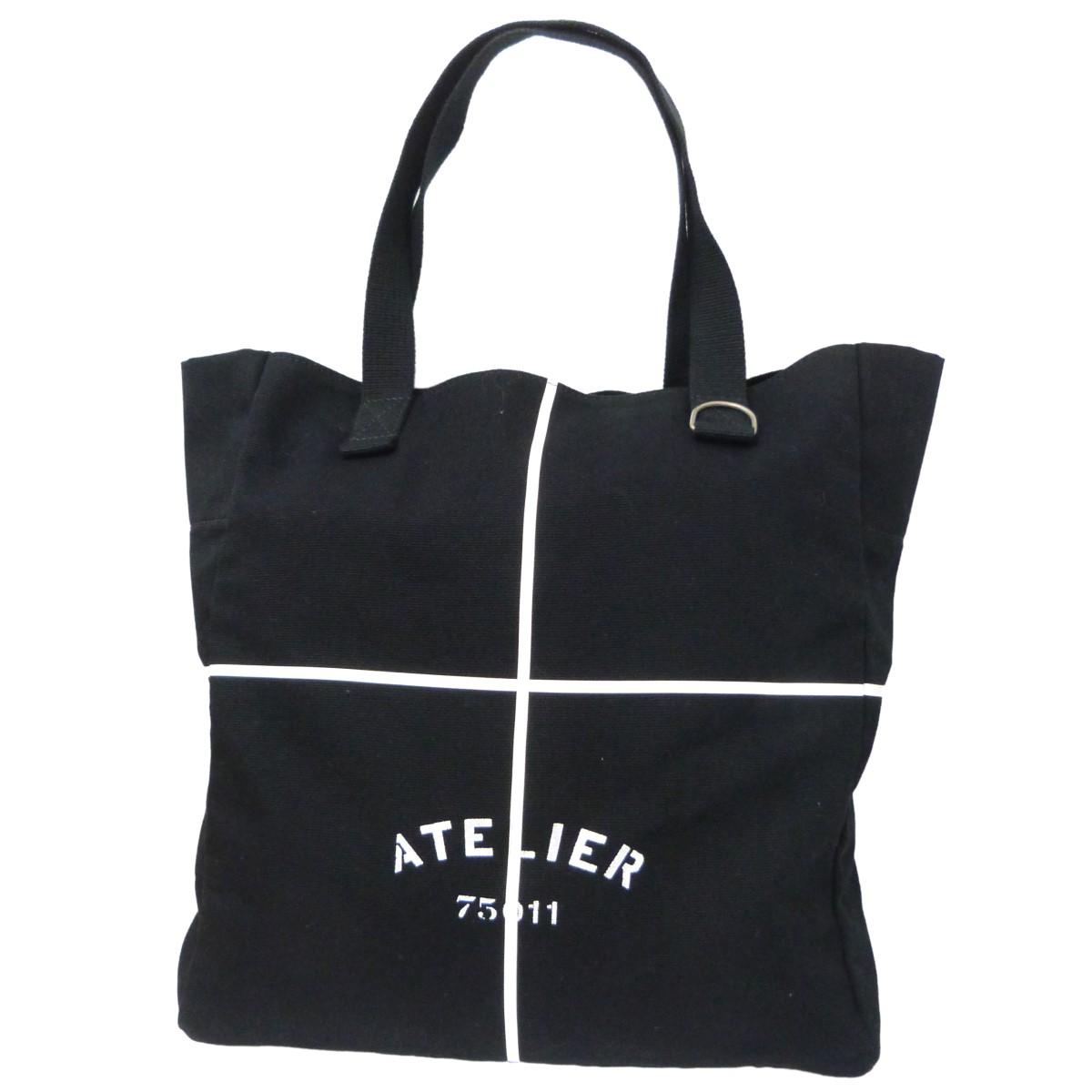 【中古】MARTIN MARGIELA 11 18SS「Atelier Tote Bag」キャンバストートバッグ ブラック サイズ:- 【140820】(マルタンマルジェラ 11)