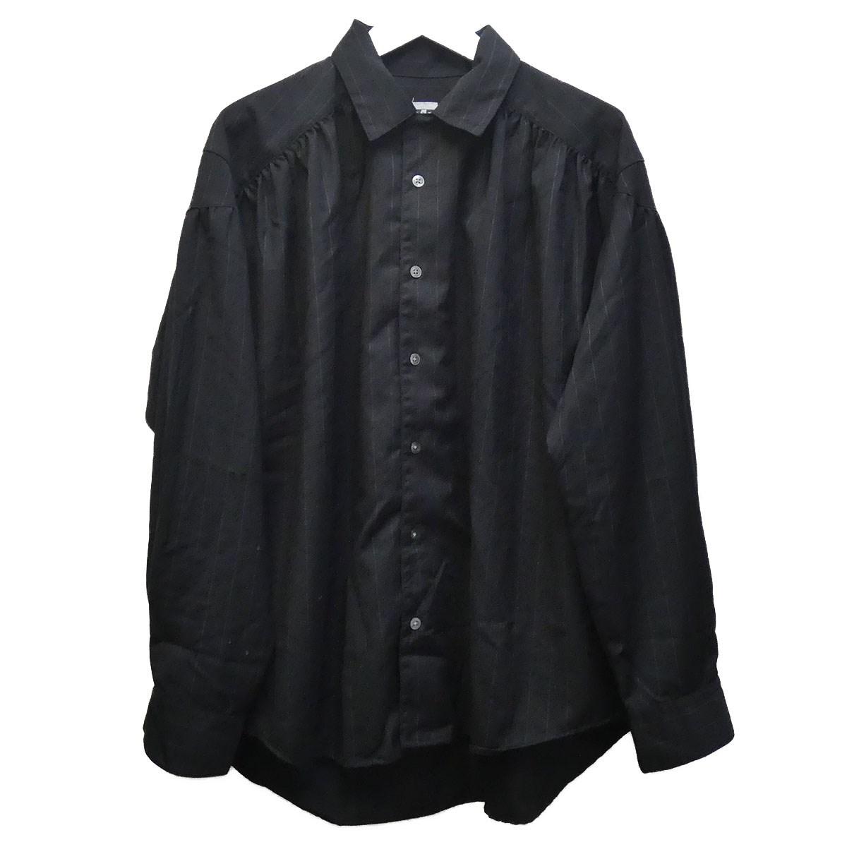 【中古】AiE ストライプシャツブルゾン ブラック サイズ:M 【140820】(エーアイイー)