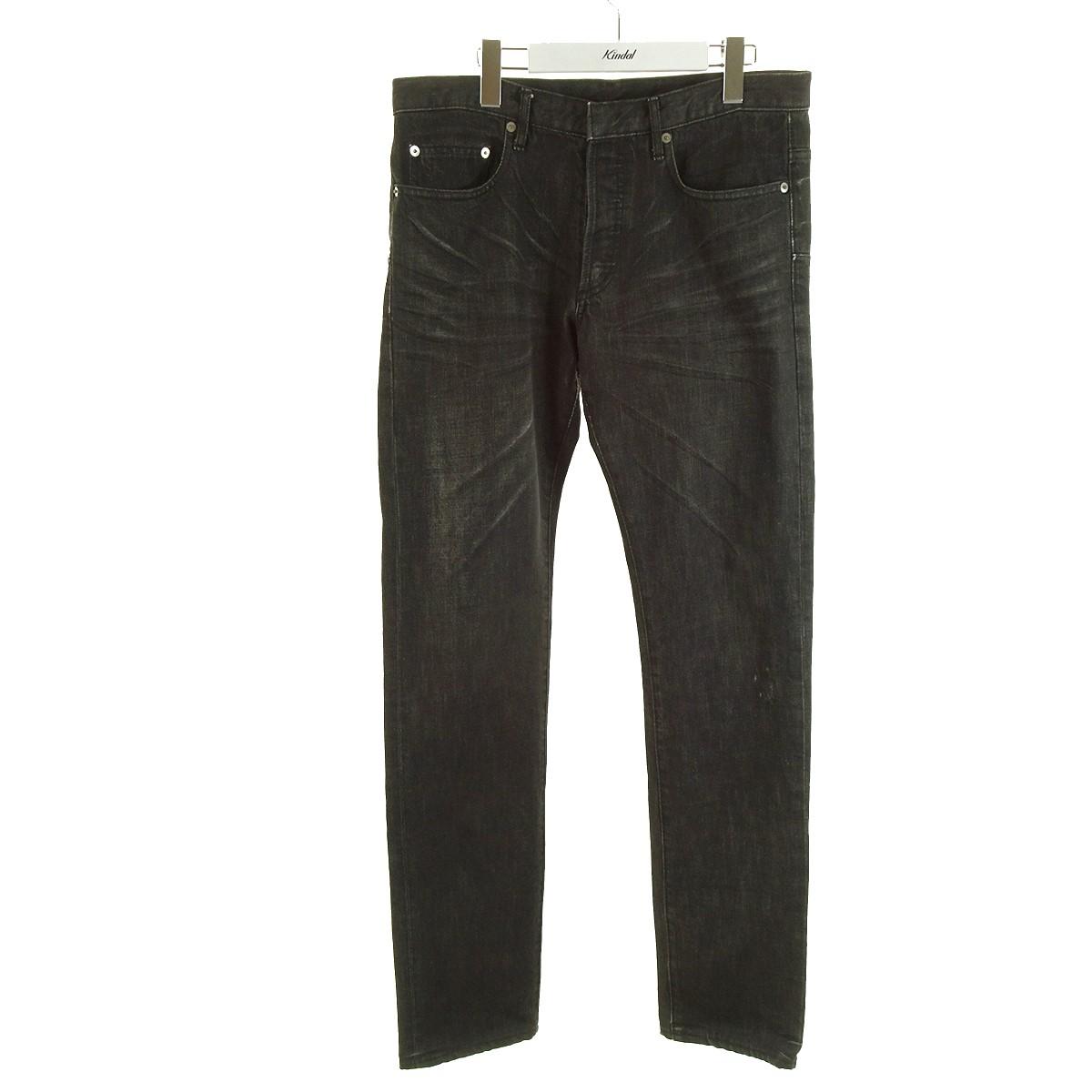 【中古】Dior Homme 爪痕加工デニムパンツ Follow me期 エディ・スリマン 03SS ブラック サイズ:46 【150820】(ディオールオム)