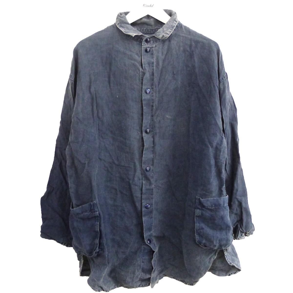 【中古】Porter Classic 「LINEN SHIRT JACKET」 リネンシャツジャケット インディゴ サイズ:l 【150820】(ポータークラシック)