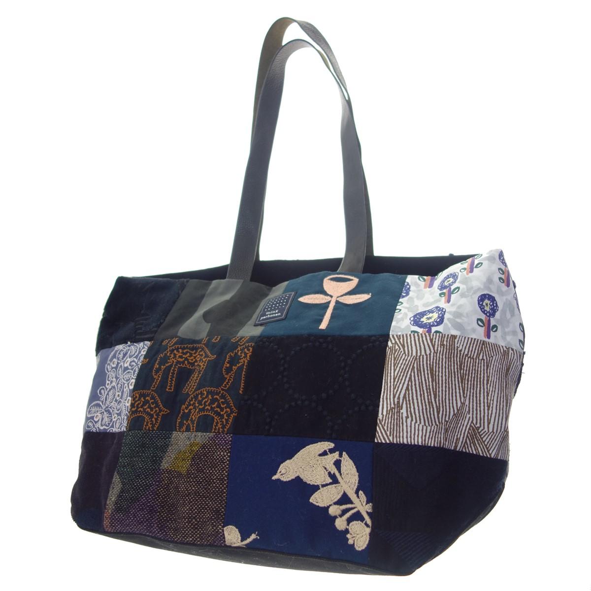 【中古】mina perhonen os9009 piece bag パッチワークトートバッグ マルチカラー 【180820】(ミナペルホネン)